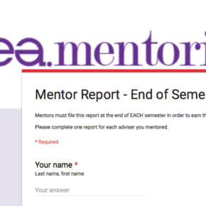 Mentor reports due June 30